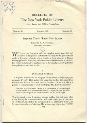 Bulletin of The New York Public Library: October 1956, Volume 60, Number 10