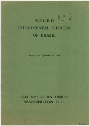 Program): Negro Experimental Theater of Brazil. August 1 to September 10, 1949