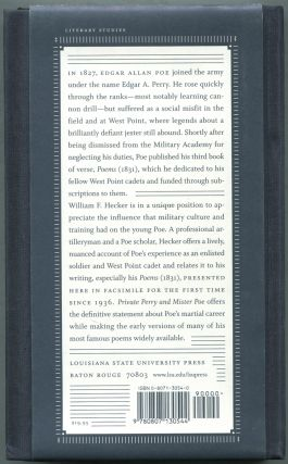 Private Perry and Mister Poe: The West Point Poems, 1831
