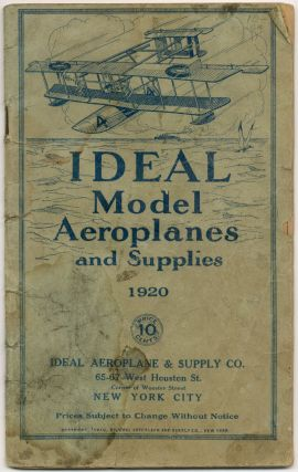 Trade catalog): Ideal Model Aeroplanes and Supplies 1920