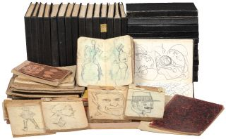Archive]: The Sketchbooks of Artist Pietro Lazzari, Italian Futurist, Sculptor and Painter....