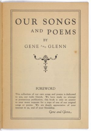 Our Songs and Poems