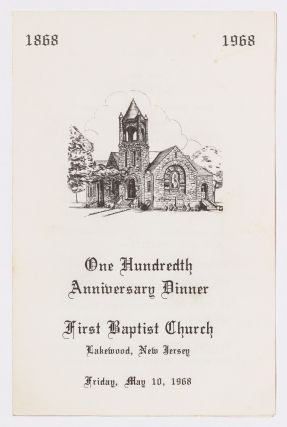 [Archive]: First Baptist Church Material spanning nearly a Century