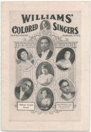 Promotional brochure]: The World-Famous Williams' Colored Singers