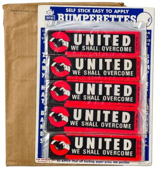 Point of Sale Bumper Sticker Display]: United We Shall Overcome