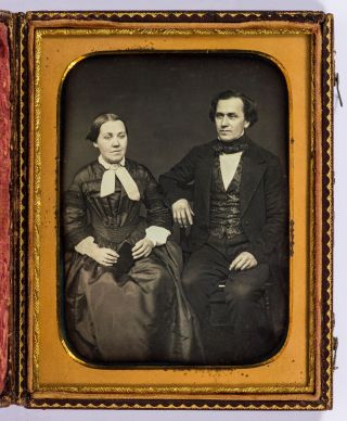 One-Half Plate Portrait Daguerreotype of a well-to-do Couple