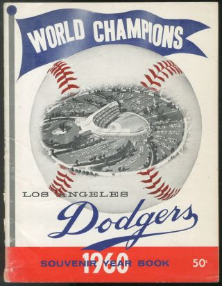World Champions Los Angeles Dodgers 1960 Souvenir Year Book