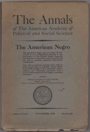 The American Negro. The Annals of The American Academy of Political and Social Science
