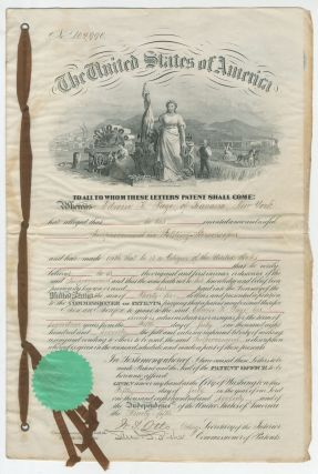 Letters of Patent for an Improved Folding Stereoscope Viewer. 1870