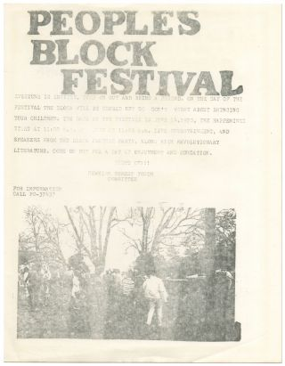 Broadside or Flyer]: People's Block Festival