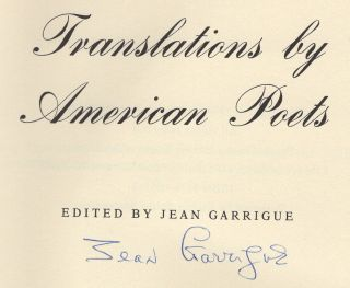 Translations by American Poets