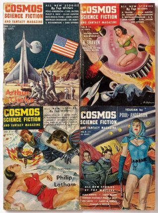 Cosmos Science Fiction and Fantasy Magazine 1-4 [Complete]. Philip K. DICK, Evan Hunter, Poul...