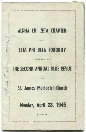 Program): Alpha Chi Zeta of Zeta Phi Beta Sorority Presents The Second Annual Blue Revue in St....