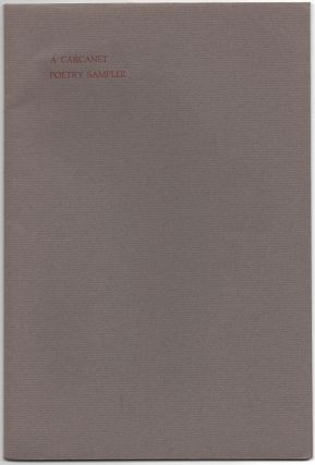 A Carcanet Poetry Sampler
