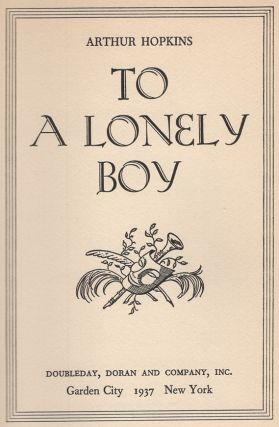 To a Lonely Boy
