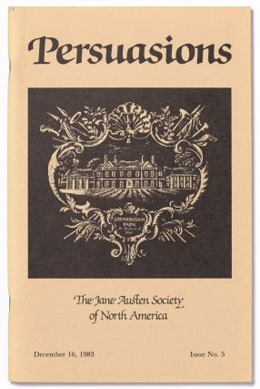 Persuasion: The Jane Austen Society of North America (or Persuasions). No. 1- No. 26, plus two Occasional Papers