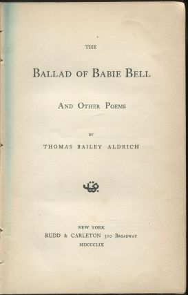 The Ballad of Babie Bell and Other Poems