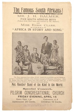 Prospectus]: The Famous South Africans! Mr. J. H. Balmer, Five South African Boys (Taken from...