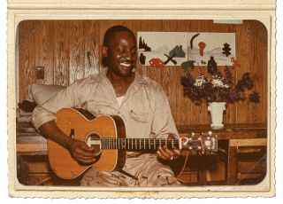 Inscribed Photograph of Big Bill Broonzy. Big Bill BROONZY