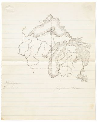 Maps of American States Drawn by a Teenage Girl from New Jersey, circa 1875