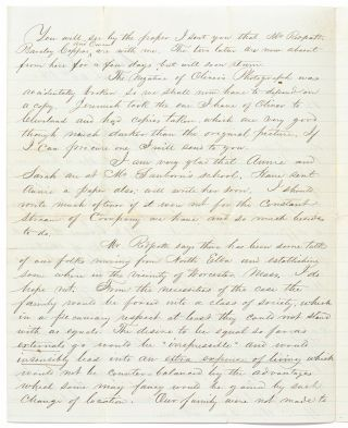 Autograph Letter Signed to his Mother, Siblings, and Cousins, about the Death of his Sister Martha