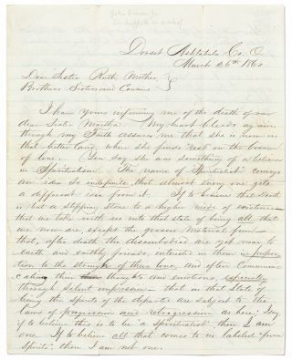 Autograph Letter Signed to his Mother, Siblings, and Cousins, about the Death of his Sister...