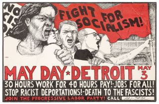 Broadside]: Fight for Socialism! May Day. Detroit. May 3. 30 Hours Work for 40 Hours Pay! Jobs...
