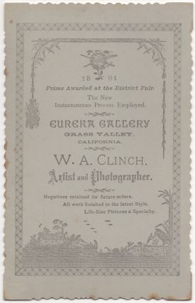 (Cabinet card): Portrait of a Grass Valley, California Woman