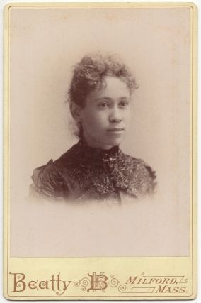 Cabinet card]: Portrait of a Millford, Massachusetts African-American Woman