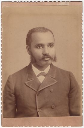 Cabinet card]: Portrait of a Cuthbert, Georgia African-American Man