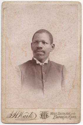 Cabinet card]: Portrait of an Emporia, Kansas African-American Man