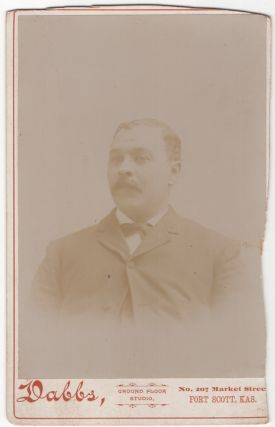 Cabinet card]: Portrait of a Fort Scott, Kansas African-American Man