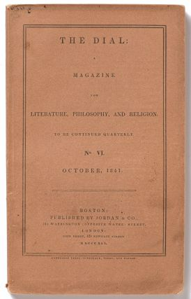 The Dial: A Magazine for Literature, Philosophy, and Religion: Vol. 2, No. 2: October, 1841....
