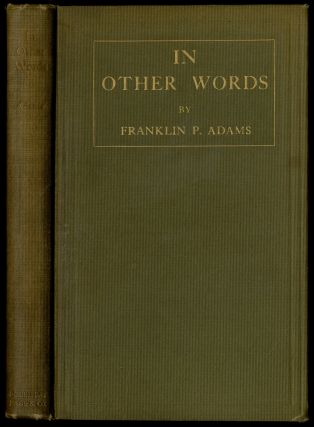 In Other Words. Franklin P. ADAMS