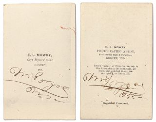 Two Signed CDVs of Maung Shaw Loo
