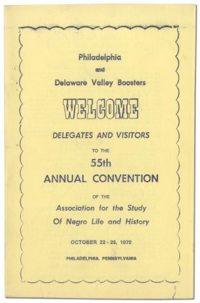 [Small Archive]: 55th Anniversary Convention of The Association for the Study of Negro Life and History, Inc. 1970