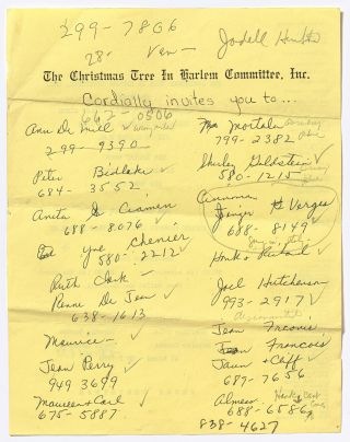 [Archive]: The Christmas Tree in Harlem Committee