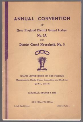 Program): Annual Convention of New England District Grand Lodge, No. 5A and District Grand...