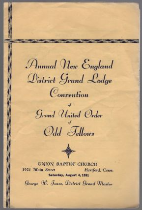 Program): Annual New England District Grand Lodge Convention of Grand United Order of Odd Fellows