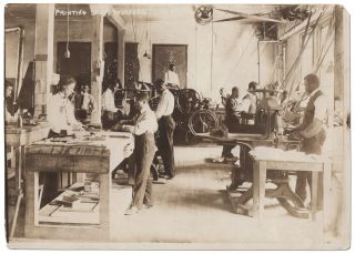 Press Photograph]: Printing Shop Tuskegee