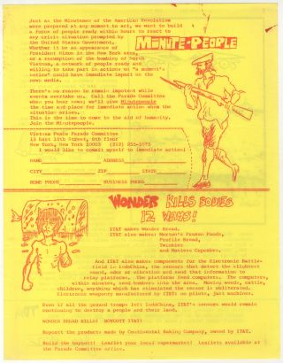 Anti-Vietnam Flyer): Minute-People