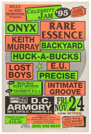 Poster): Billy the Kid Promotions Presents Celebrity Jam '95 Onyx, Rare Essence, Keith Murray,...