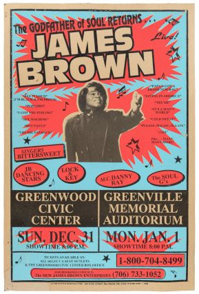 Poster): The Godfather of Soul Returns. James Brown. Singers Bittersweet / JB Dancing Stars /...