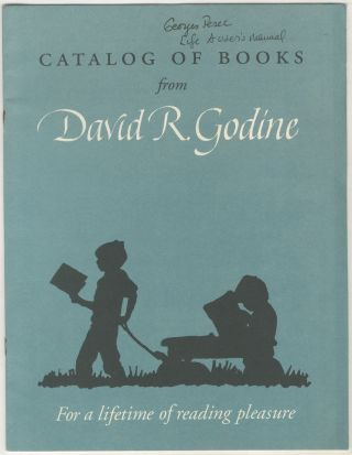 Catalog of Books from David R. Godine: For a Lifetime of Reading Pleasure