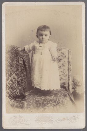 Cabinet card photo): Toddler in Cape May, New Jersey