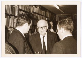 (Three photographs): George Oppen and Charles Reznikoff