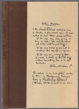 Starrett vs. Machen: A Record of Discovery and Correspondence