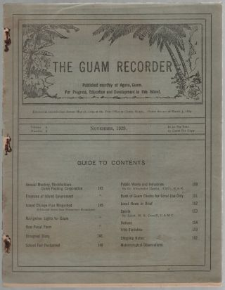 The Guam Reporter. Volume 6, Number 8. November, 1929