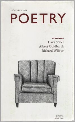 Poetry - November 2006. Dava SOBEL, Albert Goldbarth, Richard Wilbur