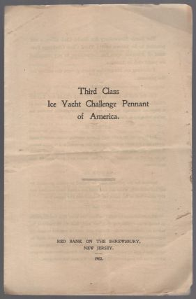 Third Class Ice Yacht Challenge Pennant of America